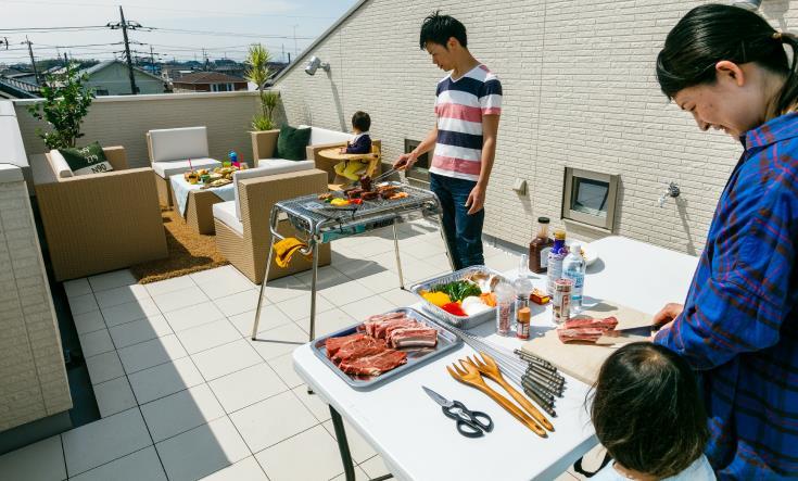 屋上庭園BBQ
