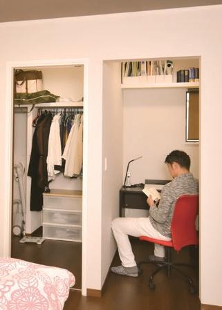 ご主人の書斎スペース