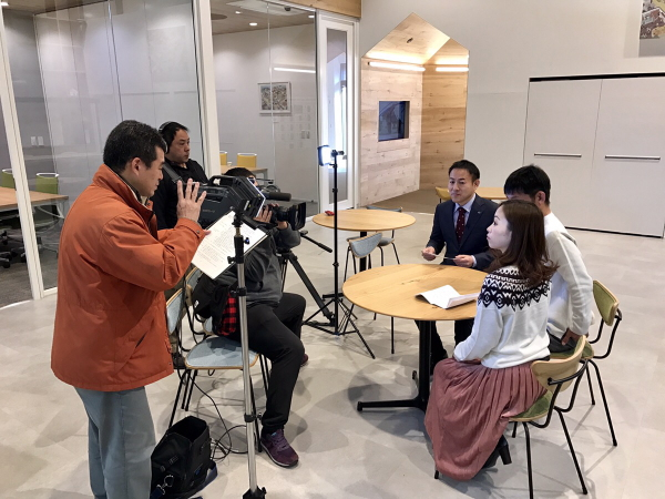 奈良テレビ取材の様子