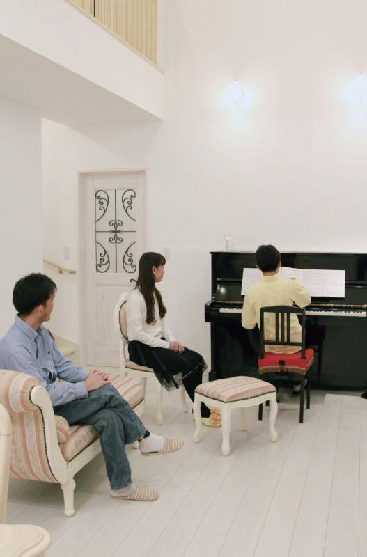 息子さんのピアノの音色に心地よさを実感♪