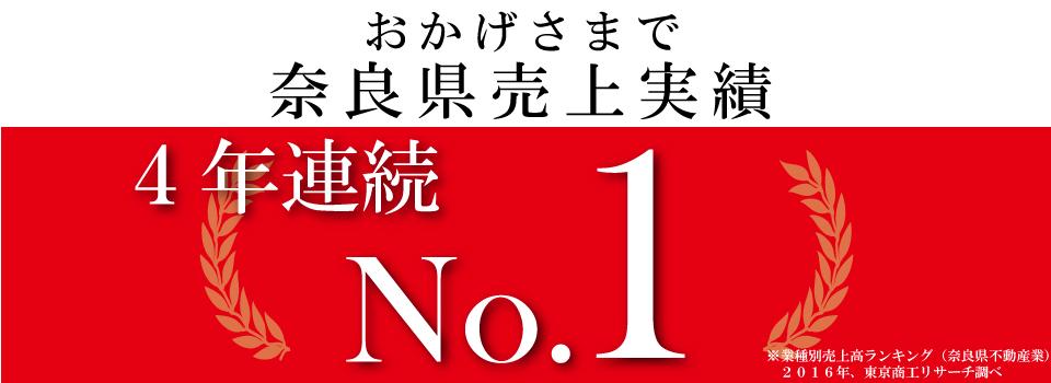 奈良県不動産部門3年連続第1位