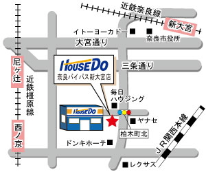 奈良バイパス新大宮店地図