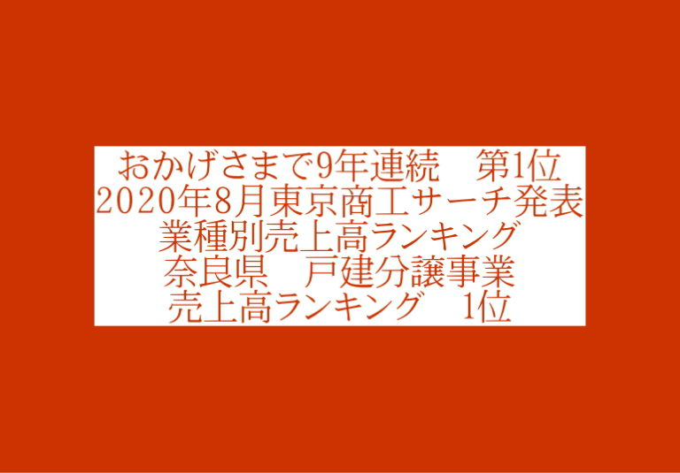 2020年8月東京商工サーチ発表1位